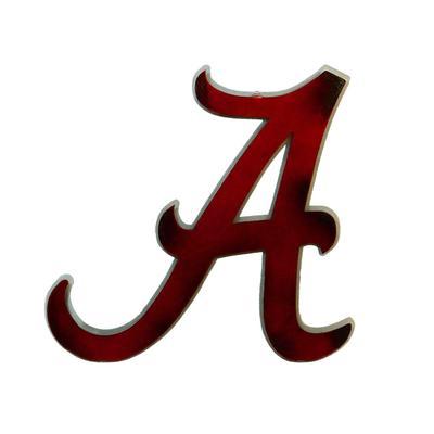 Alabama Script A Logo 3D Metal Art - 16