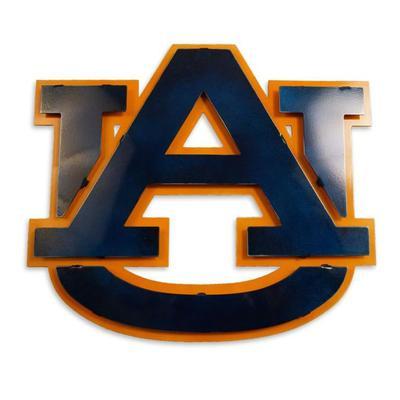 Auburn Logo 3D Metal Art - 21