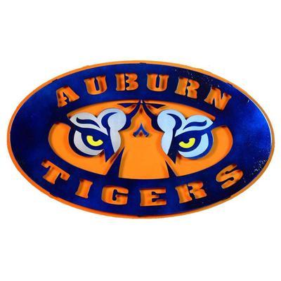 Auburn Tigers Logo 3D Metal Art - 21