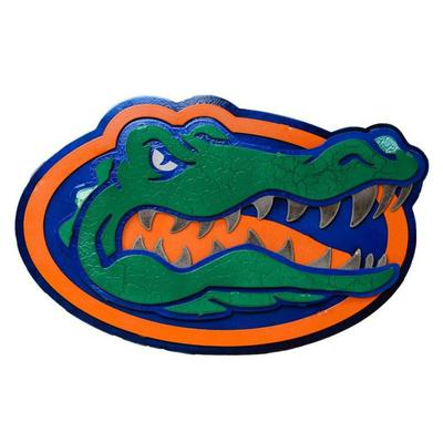 Florida Gator Logo 3D Metal Art - 22