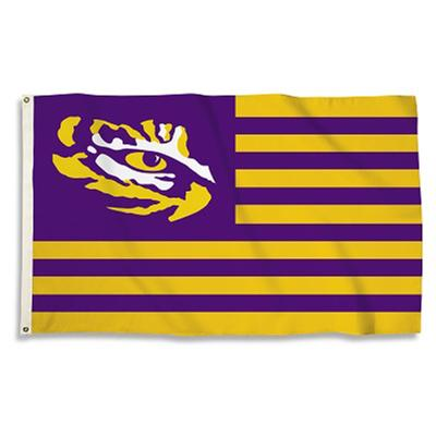 LSU Nation Striped Tiger Eye House Flag 3' X 5'