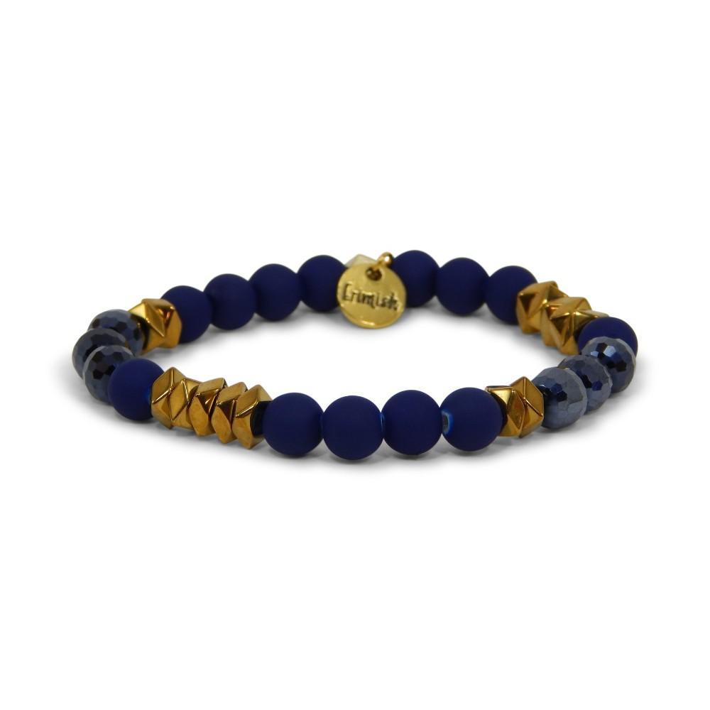 Erimish Navy And Gold Aaron Stackable Bracelet