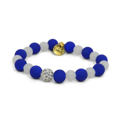 Erimish Blue and White Blizzard Stackable Bracelet