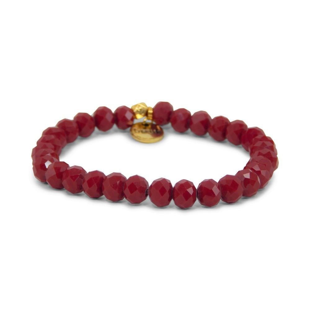 Erimish Maroon Dane Stackable Bracelet