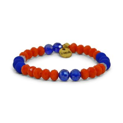 Erimish Blue and Orange Drew Stackable Bracelet