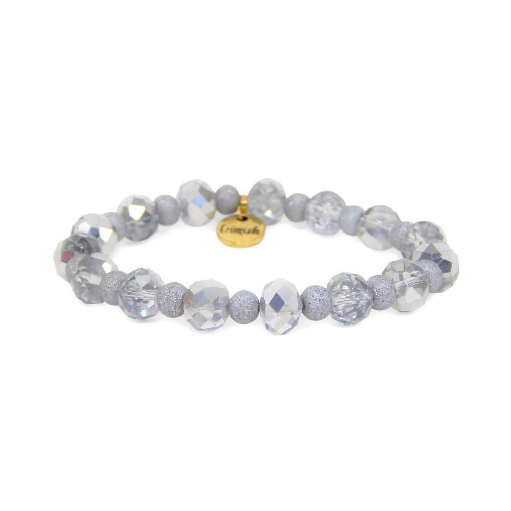 Erimish Silver Eclipse Stackable Bracelet