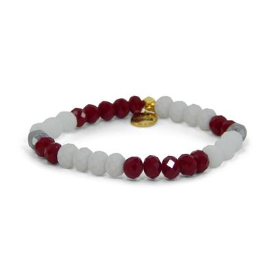 Erimish Maroon and White Kenny Stackable Bracelet
