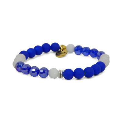 Erimish Royal and White Kevin Stackable Bracelet