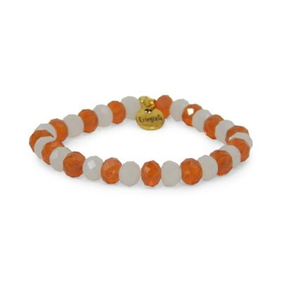Erimish Orange and White Tex Stackable Bracelet