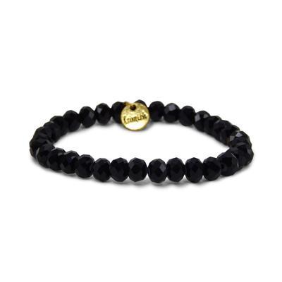 Erimish Black Tuxedo Stackable Bracelet
