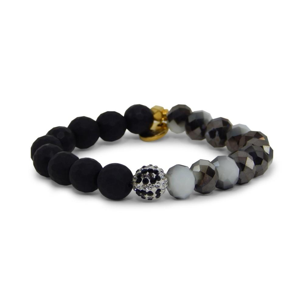Erimish Black And White Vadar Stackable Bracelet