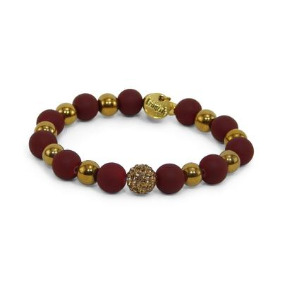 Erimish Maroon and Gold Wheat Stackable Bracelet