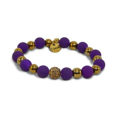 Erimish Purple and Gold Stackable Bracelet