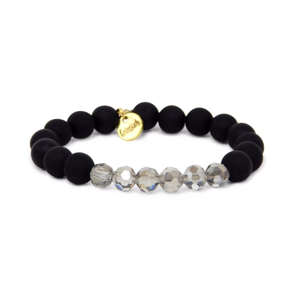 Erimish Black And Smoke Willow Stackable Bracelet