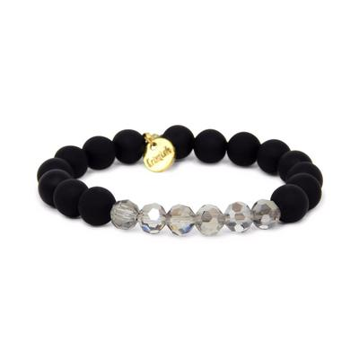 Erimish Black and Smoke Willow Stackable Bracelet