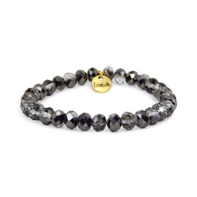 Erimish Smokey Black Shadey Stackable Bracelet