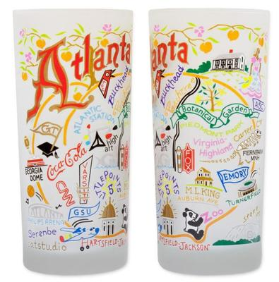 City of Atlanta Frosted Glass