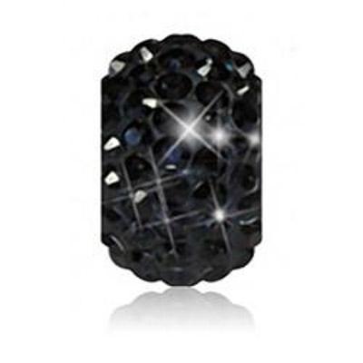 Sparkle Life Black Crystal Bead