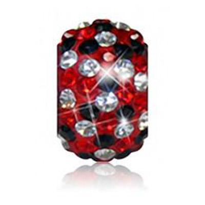 Sparkle Life Red and Black Speckled Crystal Bead