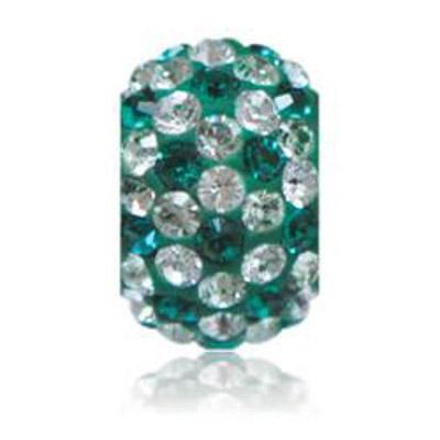 Sparkle Life Emerald And White Speckled Crystal Bead