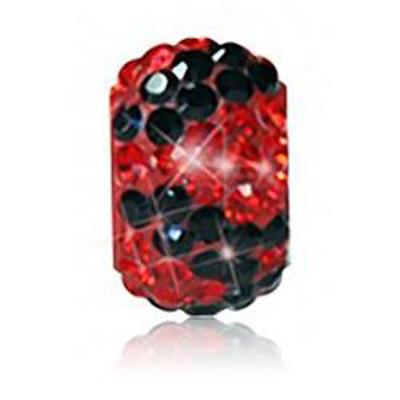 Sparkle Life Red And Black Zebra Crystal Bead