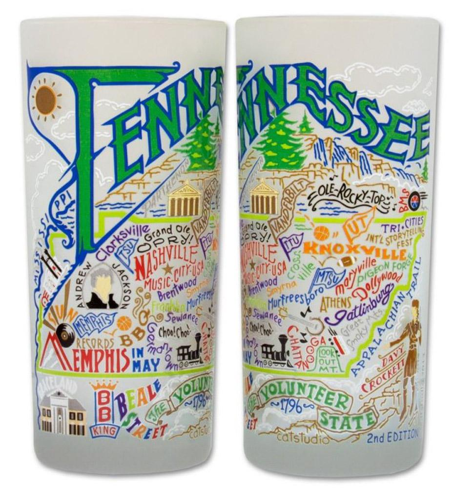 State Of Tennessee Frosted Glass