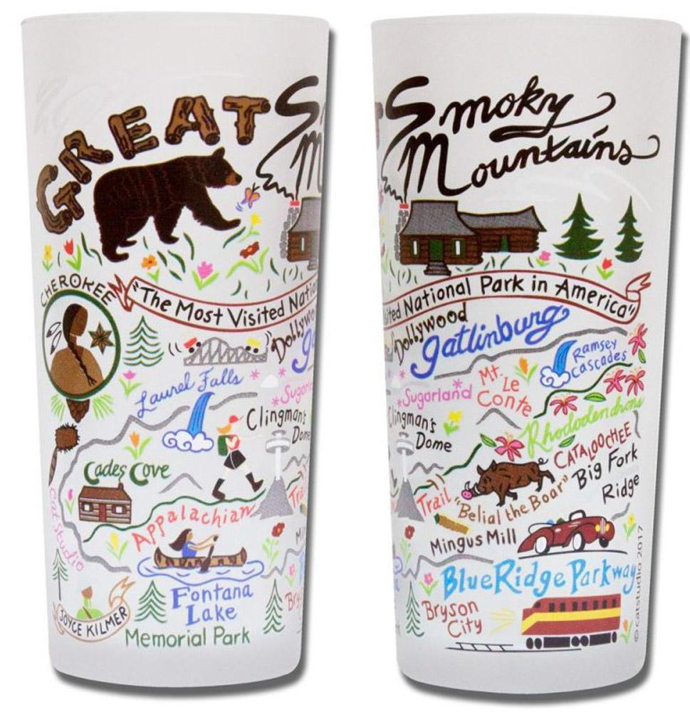 Great Smoky Mountains Frosted Glass
