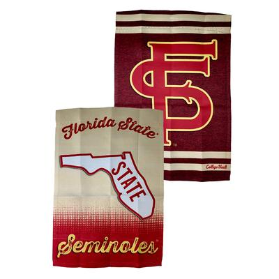 Florida State Vault Logo Two Sided Garden Flag