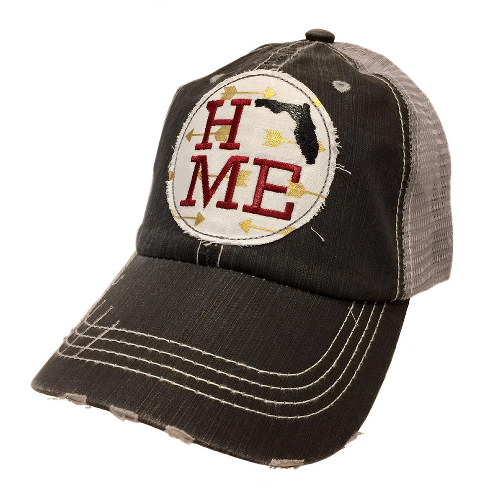State Of Florida Home Arrow Patch Mesh Back Cap