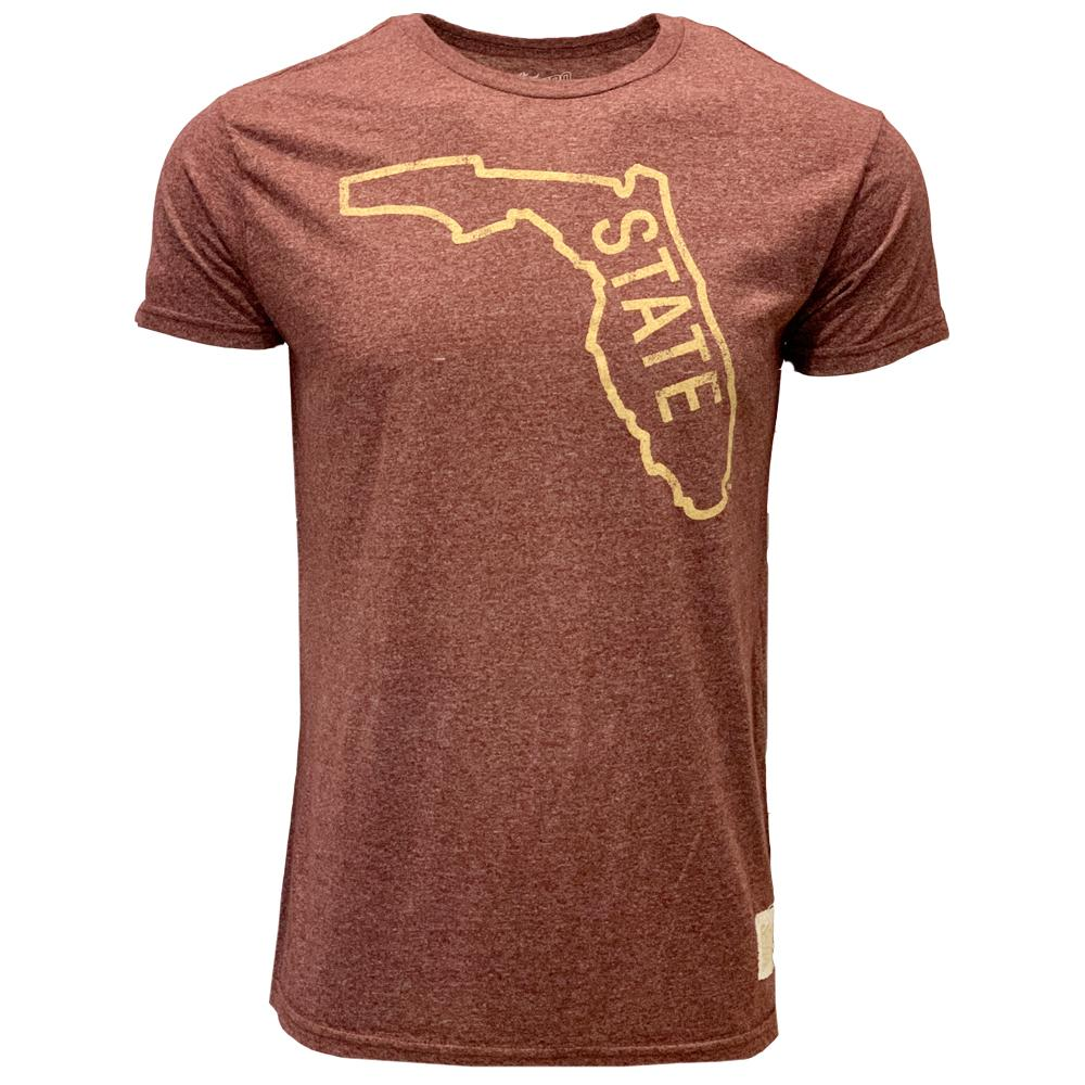 Florida State Vault State Outline Mock Twist Tee