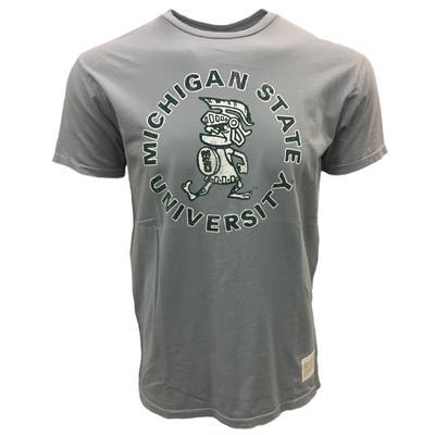 Michigan State Retro Brand Vintage Spartan Tee