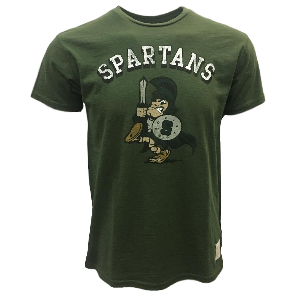 Michigan State Retro Brand Sword Spartan Slub Tee