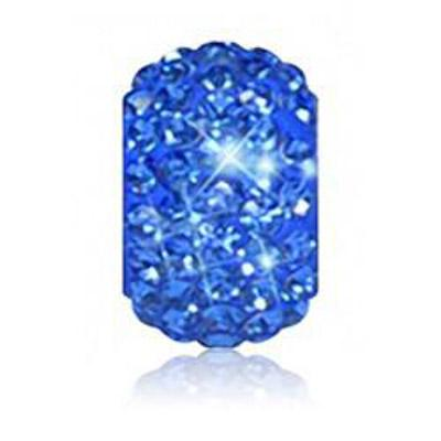 Sparkle Life Sapphire Solid Crystal Bead