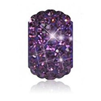 Sparkle Life Purple Solid Crystal Bead
