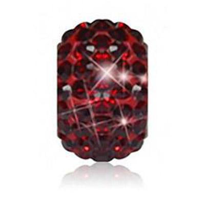Sparkle Life Siam Red Solid Crystal Bead