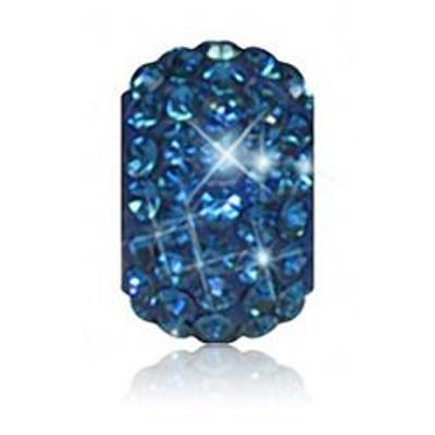 Sparkle Life Navy Solid Crystal Bead