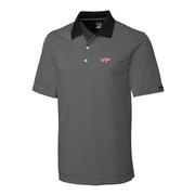 Virginia Tech Cutter And Buck Big And Tall Trevor Stripe Polo *** Custom Order ***