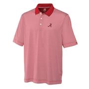 Alabama Cutter And Buck Big And Tall Trevor Stripe Polo *** Custom Order ***