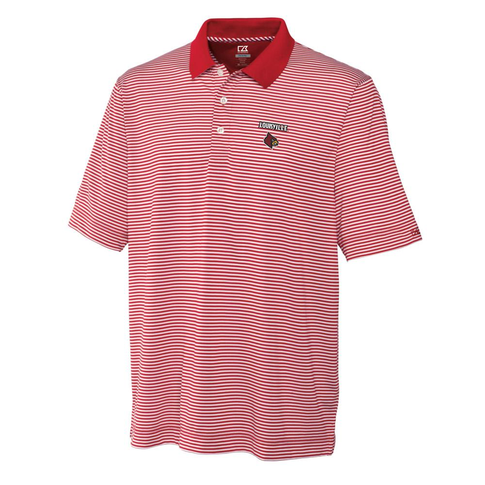 Louisville Cutter And Buck Big And Tall Trevor Stripe Polo