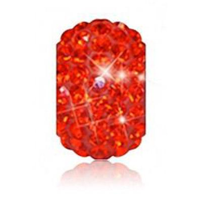Sparkle Life Orange Solid Crystal Bead