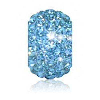 Sparkle Life Aqua Blue Solid Crystal Bead