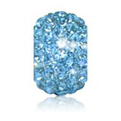 Sparkle Life Aqua Blue Solid Crystal Bead