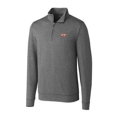 Virginia Tech Cutter and Buck Big and Tall Shoreline Half Zip Pullover ***Custom Order***