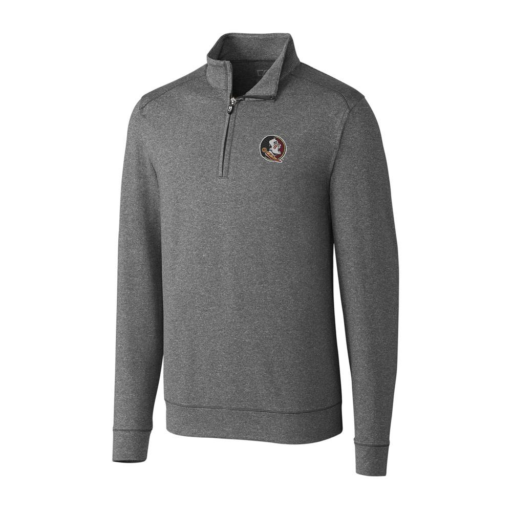 Florida State Cutter And Buck Big And Tall Shoreline Half Zip Pullover *** Custom Order ***