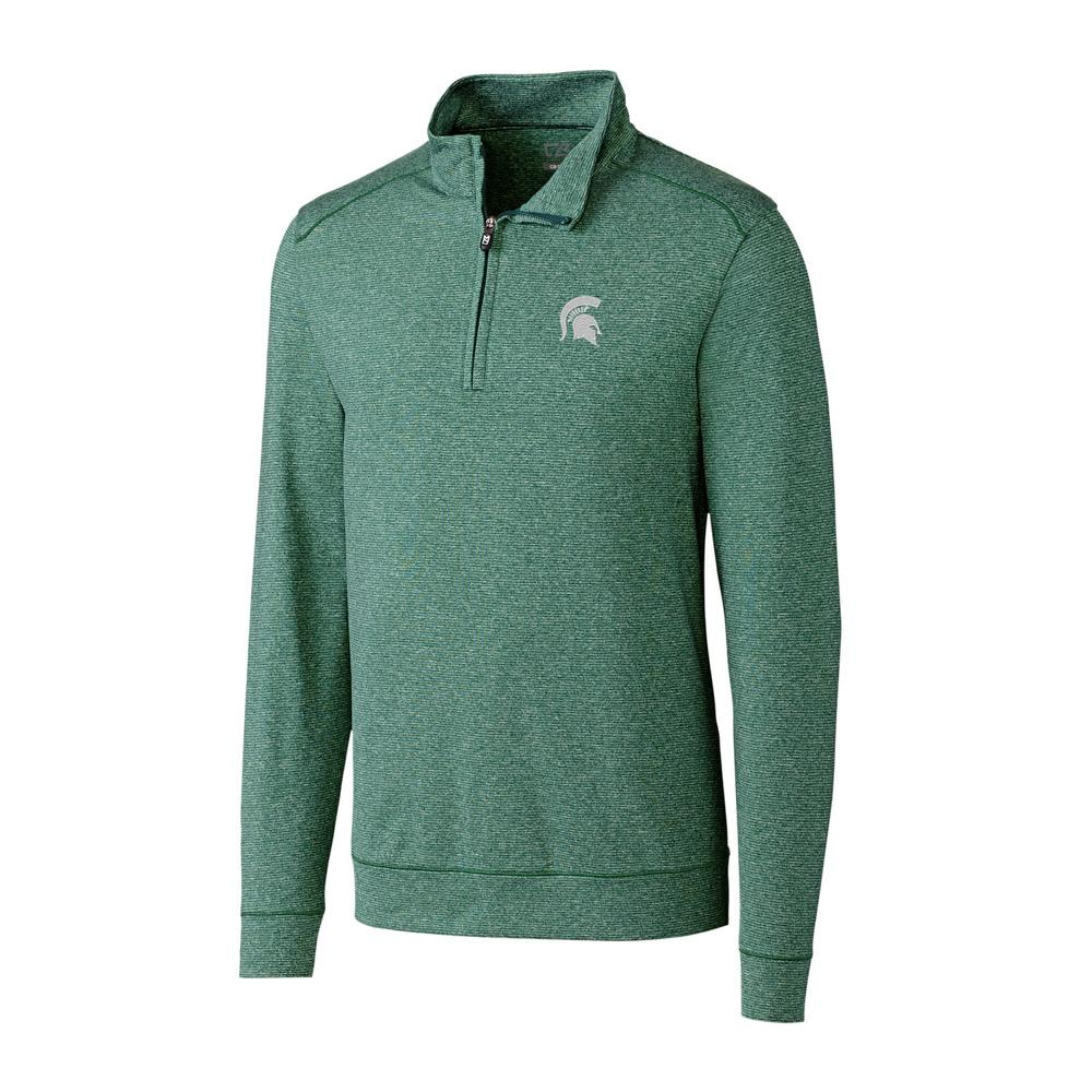 Michigan State Cutter And Buck Big And Tall Shoreline Half Zip Pullover *** Custom Order ***