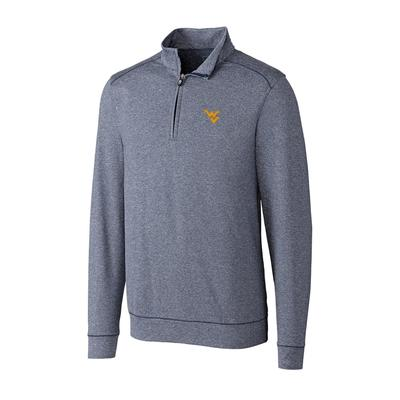 West Virginia Cutter and Buck Big and Tall Shoreline Half Zip Pullover ***Custom Order***