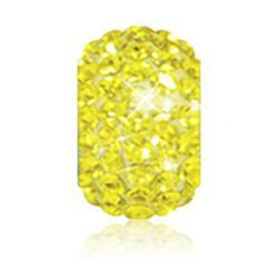 Sparkle Life Yellow Solid Crystal Bead