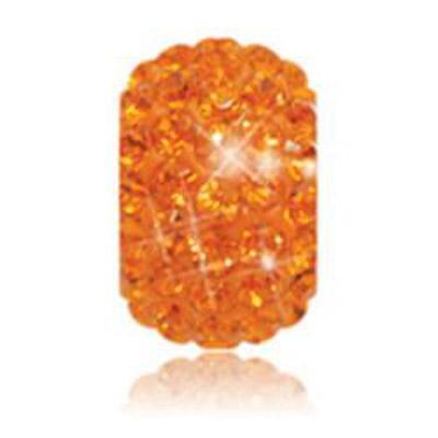 Sparkle Life Tangerine Solid Crystal Bead