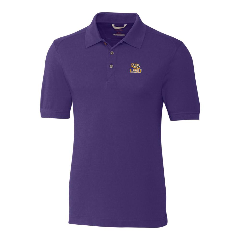 Lsu Cutter And Buck Big And Tall Advantage Polo *** Custom Order ***