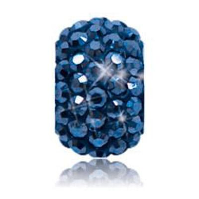 Sparkle Life Metallic Navy Solid Crystal Bead